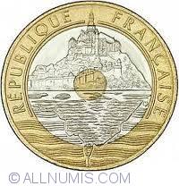 Image #2 of 20 Francs 1993 Mont Saint Michel