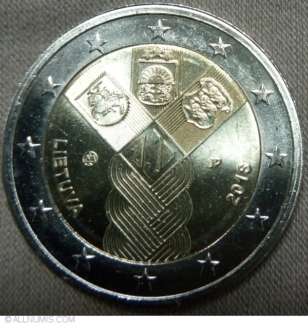 Independence of Baltic States UNC 2 Euro 2018
