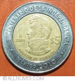 Image #2 of 5 Pesos 2009 - Agustin de Iturbide
