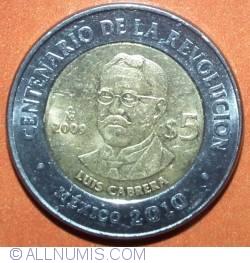 Image #2 of 5 Pesos 2009 - Luis Cabrera