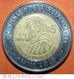 Image #2 of 5 Pesos 2009 - Servando Teresa De Mier