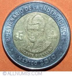 Image #2 of 5 Pesos 2010 - Vicente Guerrero