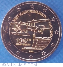 Image #2 of 2 Euro 2015 - 100th Anniversary of First Flight from Malta