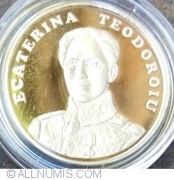 50 Bani 2017 - 100 de ani de când Ecaterina Teodoroiu a devenit prima femeie ofiţer combatant din Armata Română - monedă pentru colecționare