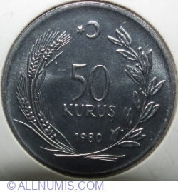 Image #1 of 50 Kuruș 1980 - FAO