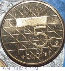 Image #1 of 5 Gulden 2001
