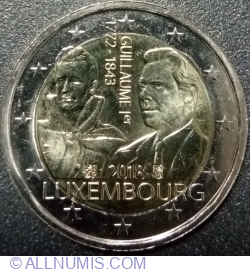 2 Euro 2018 - The 175th anniversary of the death of the Grand Duke Guillaume Ist