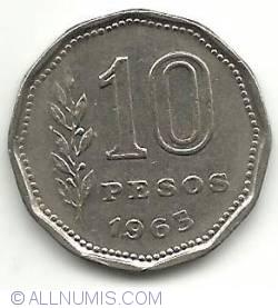 Image #2 of 10 Pesos 1963