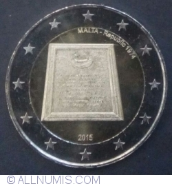 Image #2 of 2 Euro 2015 - Republic of Malta 1974