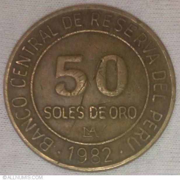 50 Soles De Oro 1982 Lima Republic 1981 2000 Peru