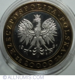 Imaginea #1 a 20.000 Złotych 1991 - 225th Anniversary of the Warsaw Mint