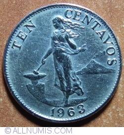 Image #1 of 10 Centavos 1963