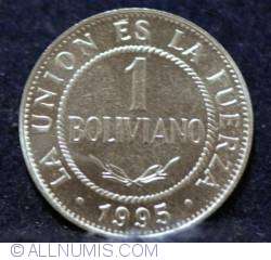Image #1 of 1 Boliviano 1995