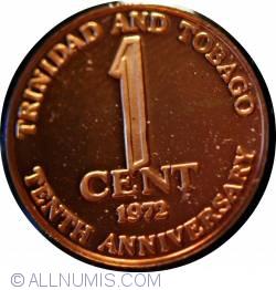 Imaginea #1 a 1 Cent 1972 - 10 ani de Independenta