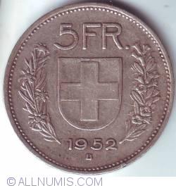 Image #1 of 5 Francs 1952 B