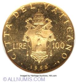100 Lire 1958 (XX)