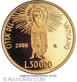 [PROOF] 50000 Lire 2000 (XXII) - Crucifixion