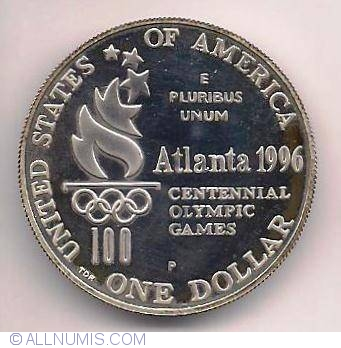 USA SILVER PROOF $ 1996P ATLANTA OLYMPIC GAMES HIGH JUMP SWIMMER CLAD 1//2 DOLLAR
