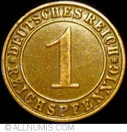 Image #1 of 1 Reichspfennig 1934 J