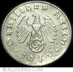 Image #2 of 1 Reichspfennig 1943 J