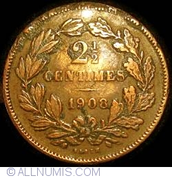 Image #2 of 2 1/2 Centimes 1908