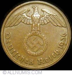 Image #2 of 2 Reichspfennig 1936 D