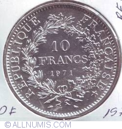 Image #1 of 10 Francs 1971