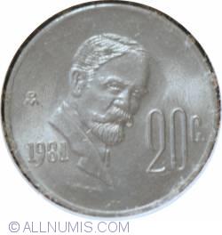 Image #1 of 20 Centavos 1981