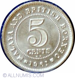 Image #2 of 5 Cents 1961 Kn