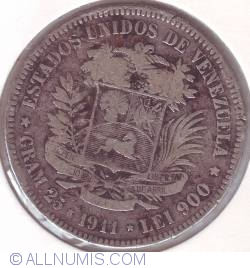 Imaginea #1 a 5 Bolivares 1911