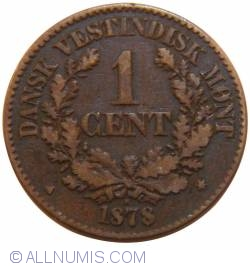 Image #2 of 1 Cent 1878