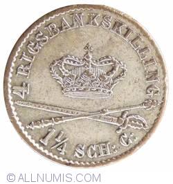 Imaginea #2 a 4 Rigsbankskilling 1841