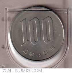 Image #2 of 100 Yen 1970  (year 45) - 百円 (四十五 )