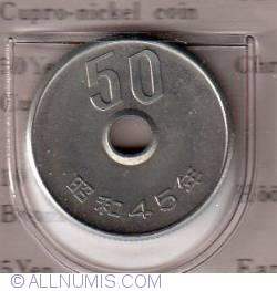 Image #2 of 50 Yen 1970  (year 45) - 五十円 (四十五 )