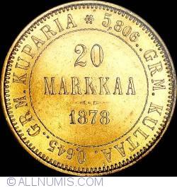 Image #1 of 20 Markkaa 1878