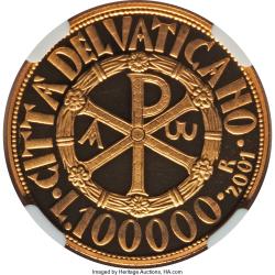 Image #1 of [PROOF] 100000 Lire 2001 R (XXIII) - Religious symbols