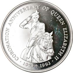 2 Dollars 1993 - 40th Anniversary - Coronation of Queen Elizabeth II