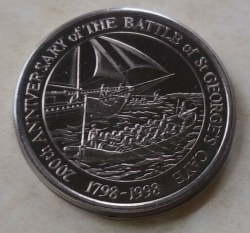 Image #1 of 2 Dollars 1998 - Battle of St. George's Caye