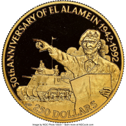 Image #1 of 250 Dollars 1992 - 50th Anniversary - Battle of El Alamein