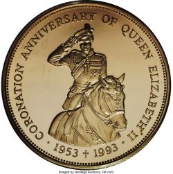 Image #2 of 500 Dollars 1993 - 40th Anniversary - Coronation of Queen Elizabeth II