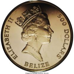 Image #1 of 500 Dollars 1993 - 40th Anniversary - Coronation of Queen Elizabeth II