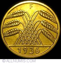 Image #2 of 5 Reichspfennig 1936 F