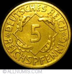 Image #1 of 5 Reichspfennig 1936 F
