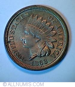 Image #1 of Indian Head Cent 1863