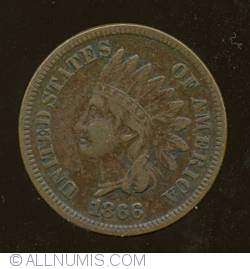Image #1 of Indian Head Cent 1866
