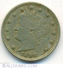 Image #1 of Liberty Head Nickel 1890
