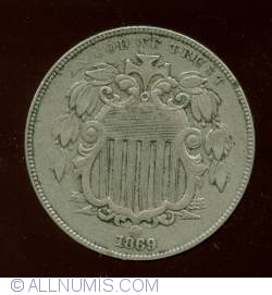 Shield Nickel 1869