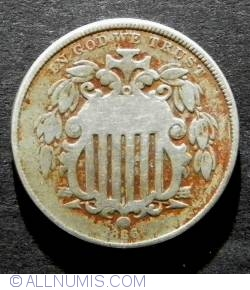 Shield Nickel 1866