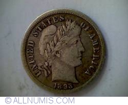 Image #1 of Barber Dime 1893 O
