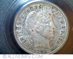 Image #1 of Barber Dime 1909 D